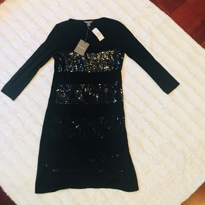 NWT Tommy Bahama black sequin dress